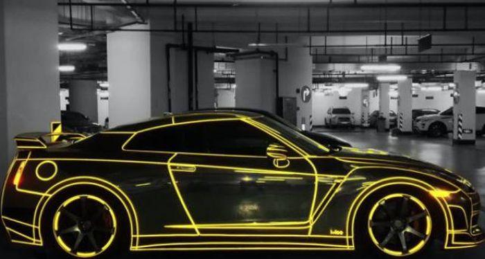Крутые автомобили с аэрографией