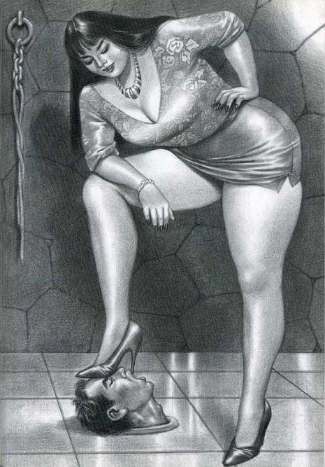 Женское доминирование в провокационных карикатурах