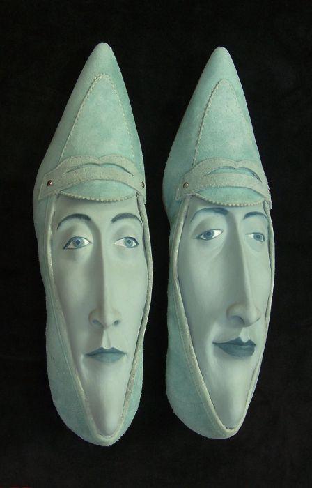 Обувь с лицами