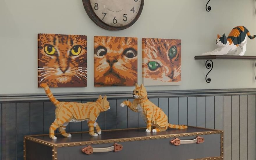 Кошки из LEGO