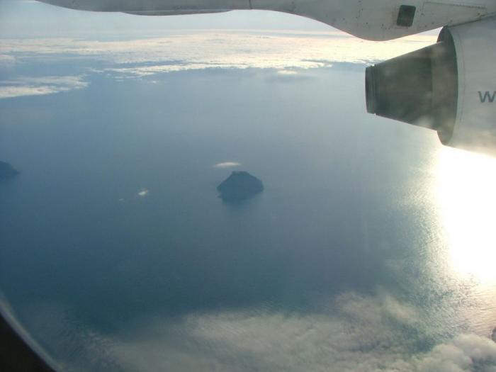 Остров с короной из облаков