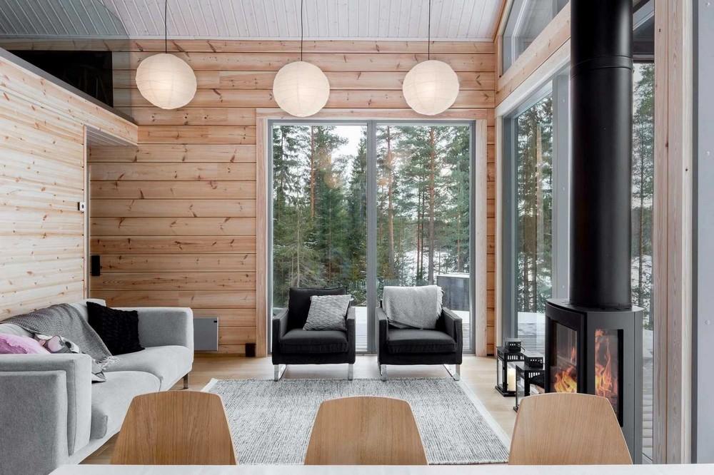 Дом из деревянных брёвен в Финляндии