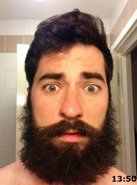 Неудачный момент, чтобы сбрить бороду