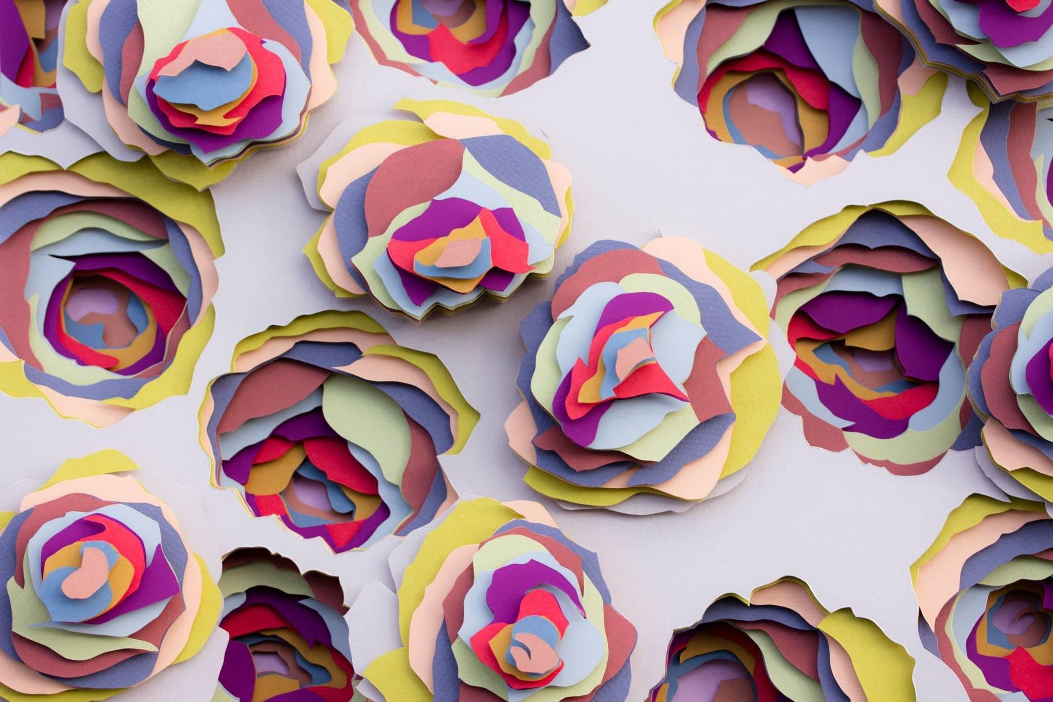 3D узоры из бумаги от художника Мода Вантура