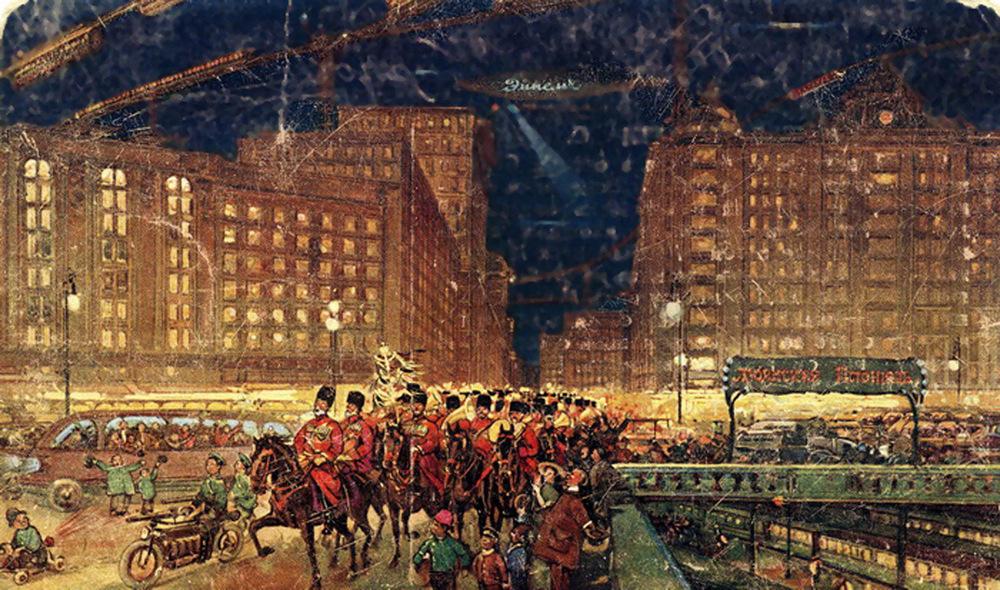 Как русские художники в 1914 году представляли Москву в 23-м веке