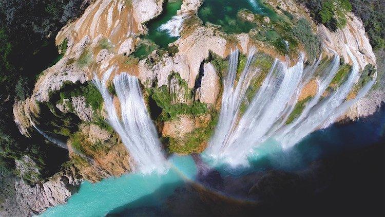Снимки живописных мест, сделанные с помощью дронов