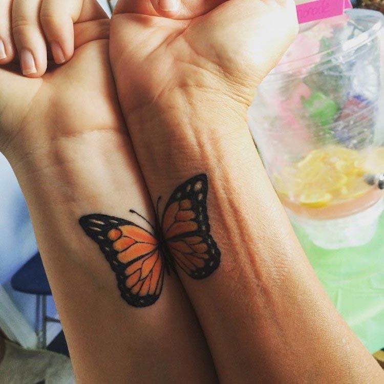 Парные татуировки мам и дочерей