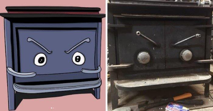 Художник видит лица в предметах