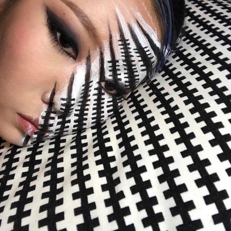 Макияж с оптическими иллюзиями от Дайн Юн
