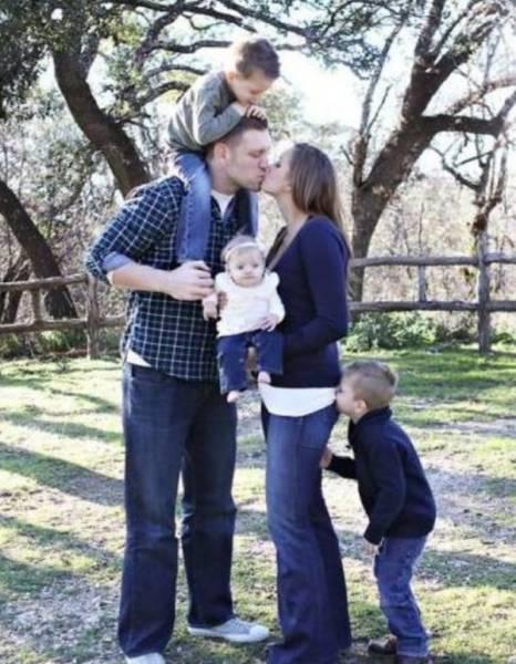 Дети, которые испортили семейные фото