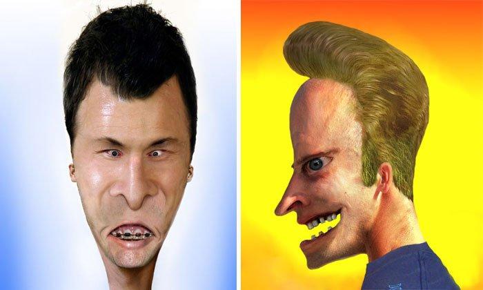 Реалистичные персонажи мультфильмов