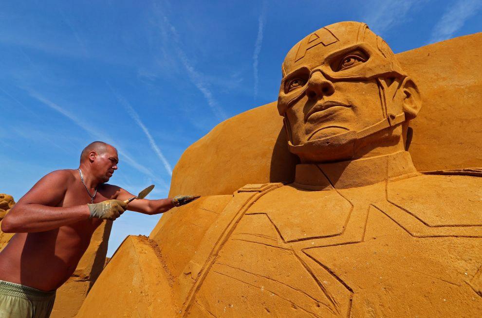 Волшебный песчаный мир Диснея 2017 в Бельгии