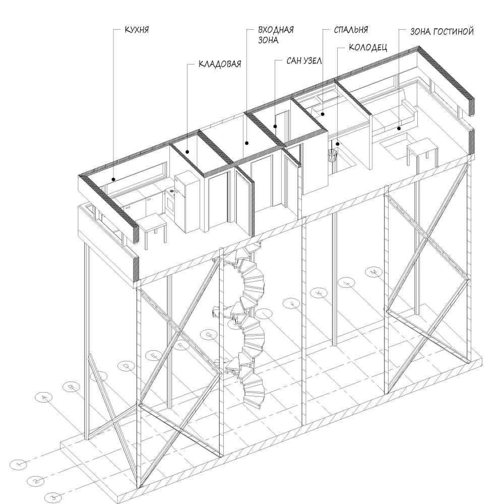 Проект жилого дома для охотника