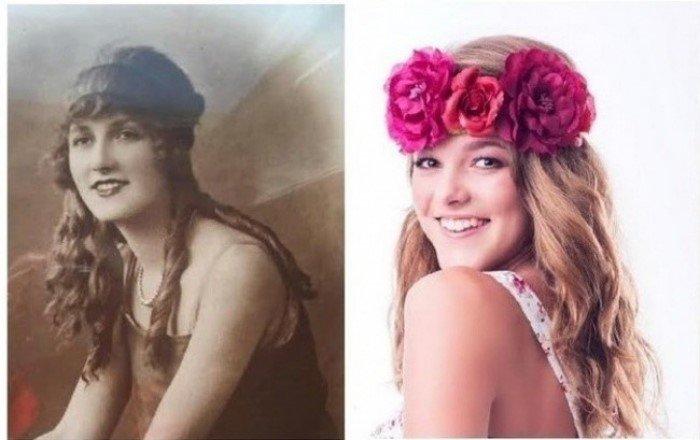 Родственное сходство на фотографиях