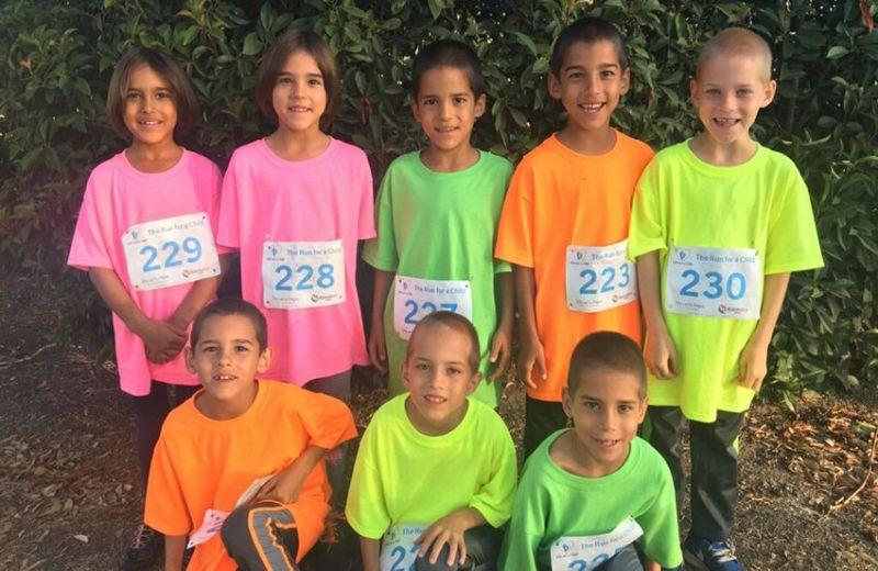 Восемь близнецов Нади Сулеман через восемь лет после рождения
