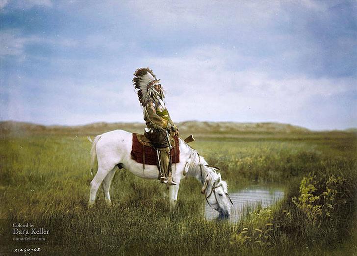 Яркие исторические кадры в цвете