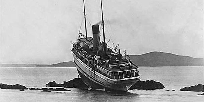 Эпическое крушение судна Princess May
