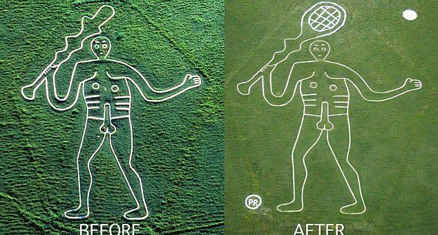 Шутники вручили британскому великану теннисную ракетку вместо дубины