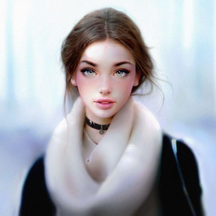 Гиперреалистичные портреты от Ираклия Надара