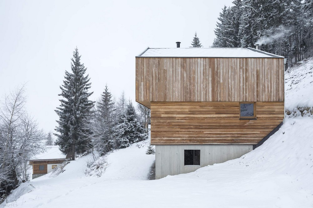 Горный домик в Альпах на востоке Франции