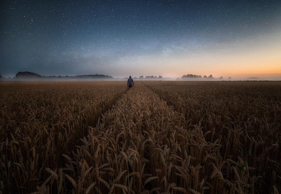 Пейзажные ночные фотографии от Мика Суутари