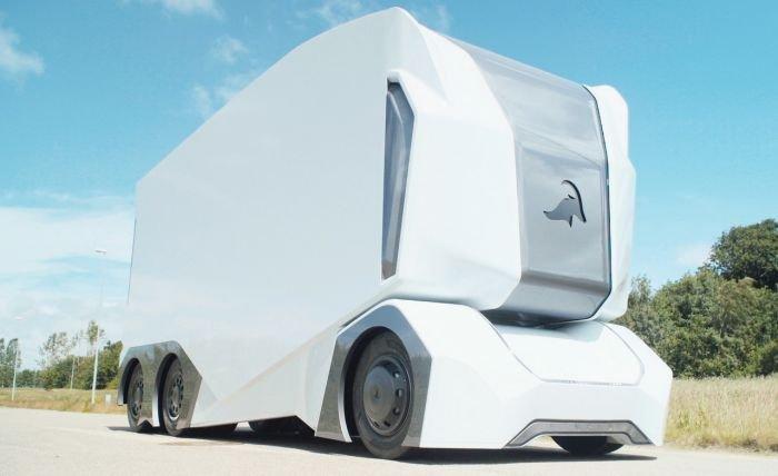 Самоуправляемый грузовик T-Pod, в котором нет кабины
