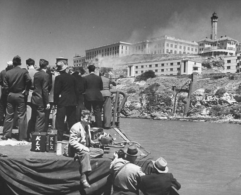 Исторические фотографии Алькатраса