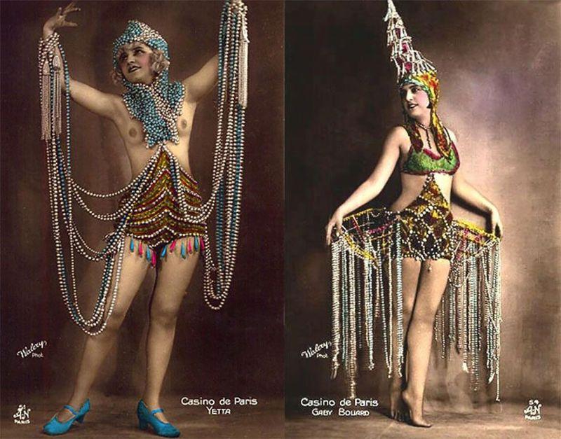 Винтажные открытки с танцовщицами Казино де Пари