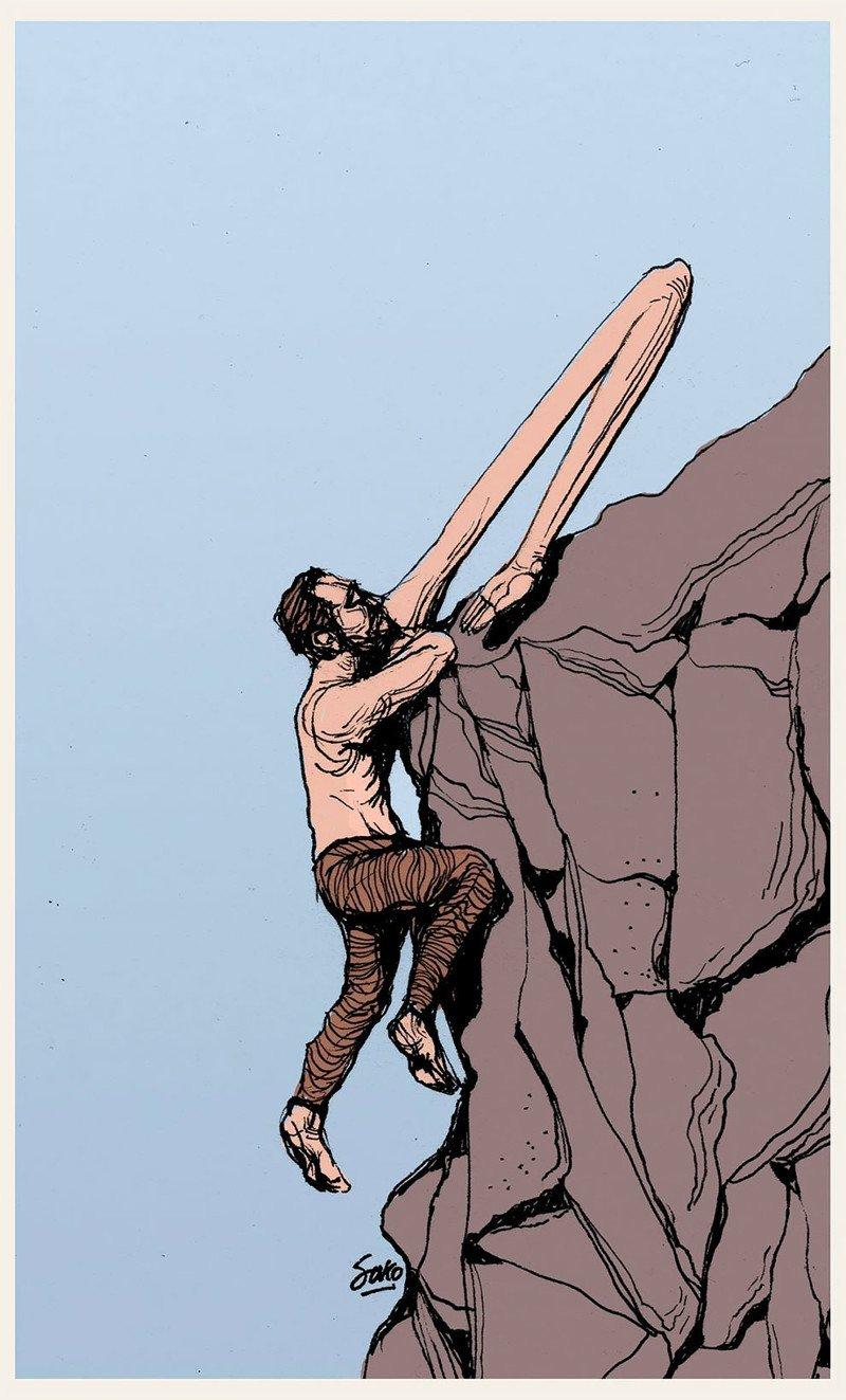 Человек и его противоречивая природа в иллюстрациях Sako-Asko