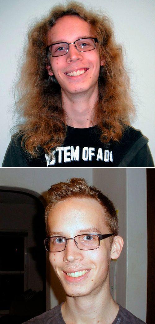 Смена имиджа: до и после