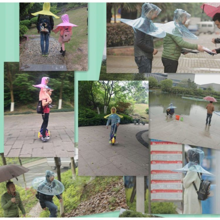 Китайские изобретатели придумали зонтик-дождевик