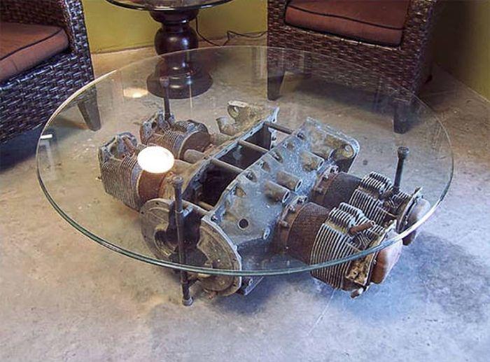 Креативная мебель из частей самолетов