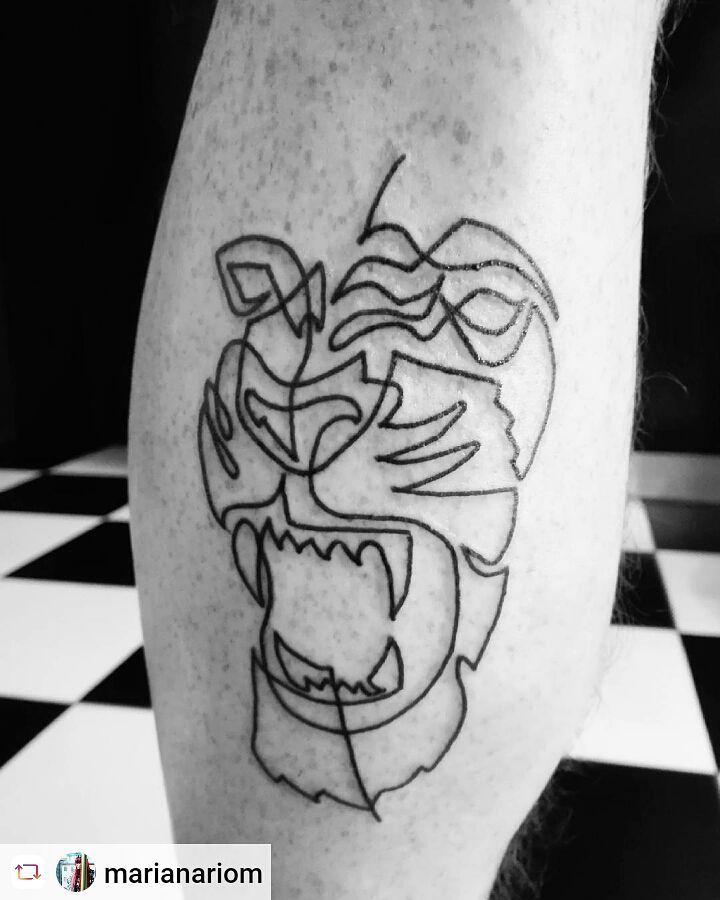 Татуировки из одной непрерывной линии