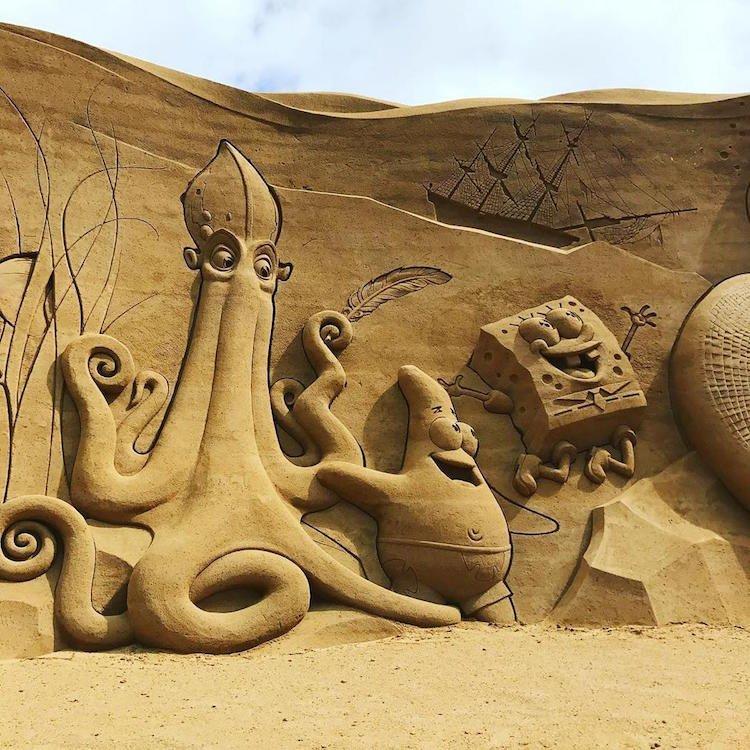 Фестиваль песчаных скульптур Sondervig Sand Sculpture Festival