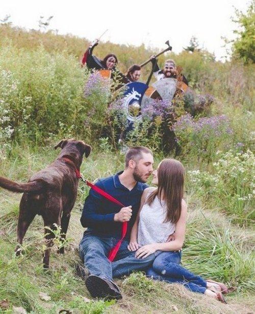 Смешные и нелепые романтические фотографии