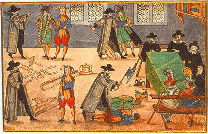 Ритуал посвящения в студенты в Средние века