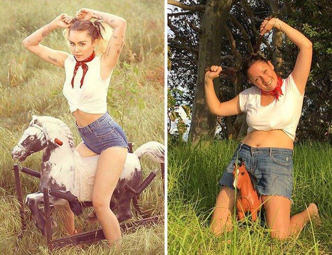 Селеста Барбер продолжает пародировать фотографии звёзд из Instagram