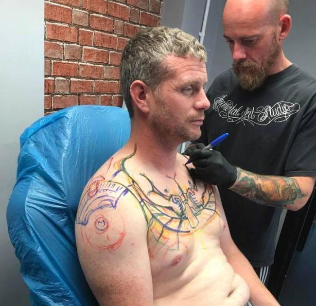 Забавная татуировка