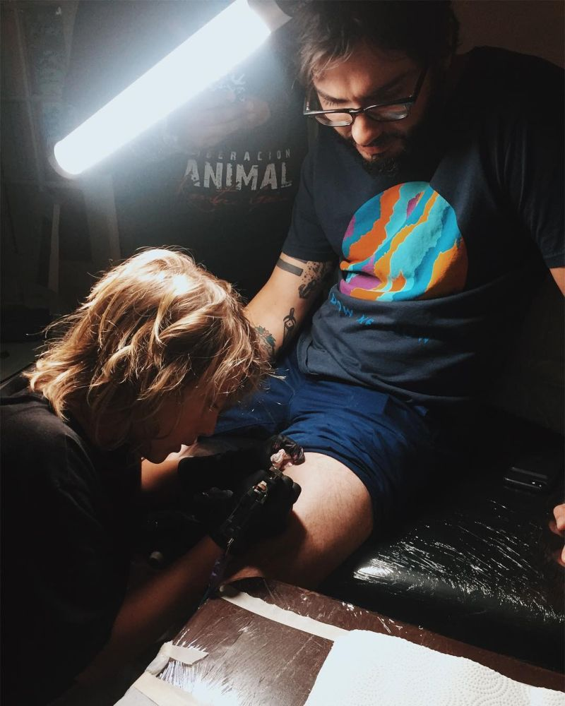 12-летний художник, который уже набил пару десятков татуировок