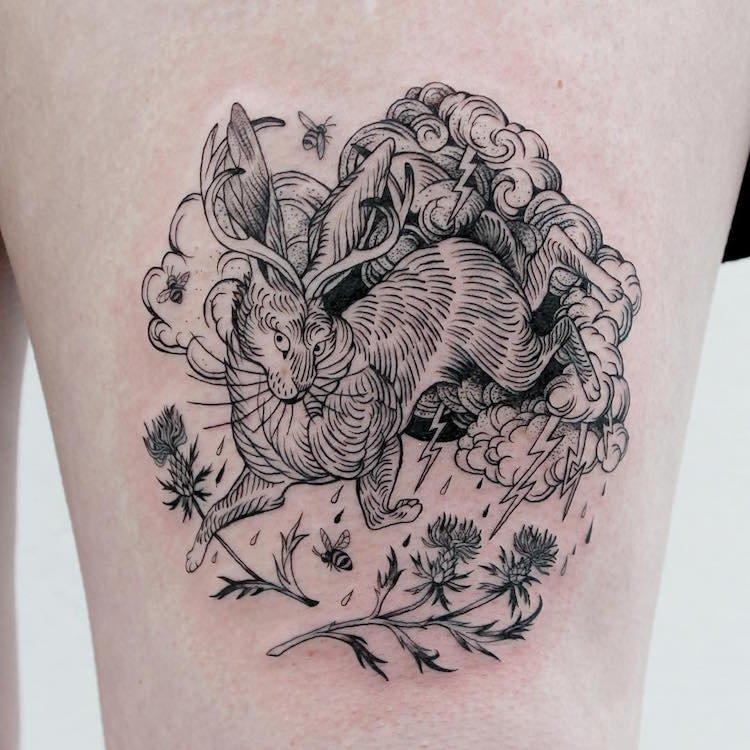 Изящные татуировки от A-B M