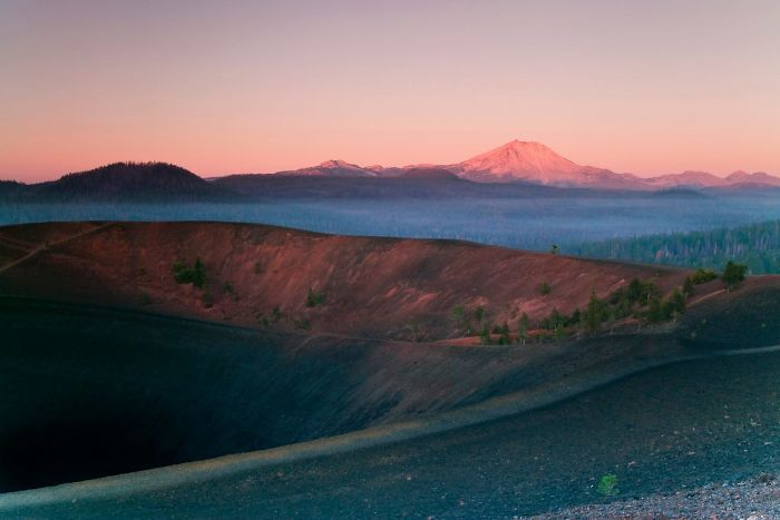 Инопланетные пейзажи национального парка Лассен-Волканик
