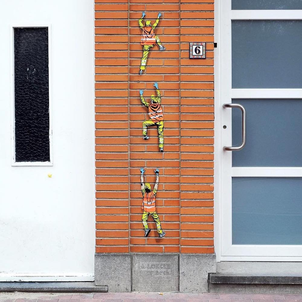 Крошечные мусорщики на улицах Брюсселя