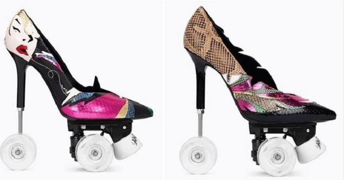 Модный Дом Saint Laurent презентовал туфли на колесах