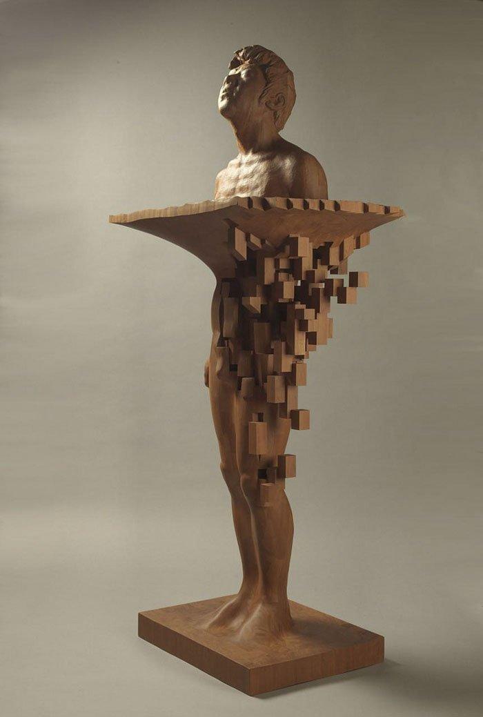 Пиксельные скульптуры от тайского художника Хсу Тунг Хана