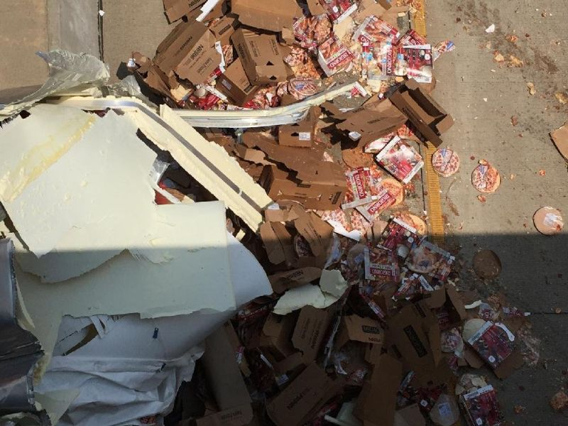 Шоссе в Арканзасе завалило пиццей