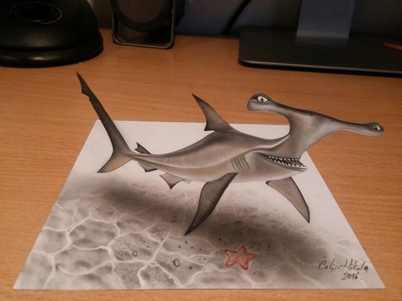 Реалистичные 3D-рисунки от сербского художника