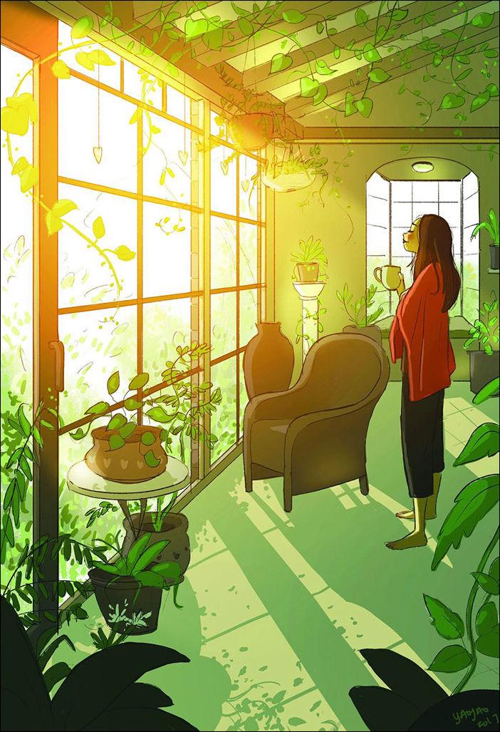 Рисунки о прелестях жизни в одиночестве