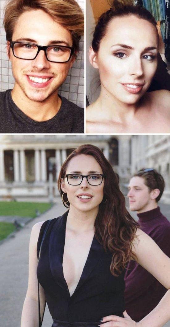 Трансгендеры до смены пола и после