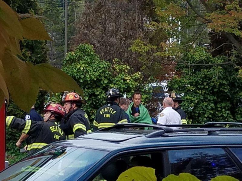 Мустанг разорвало на части во время ДТП в Сиэтле