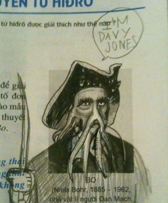 Забавные рисунки в школьных учебниках